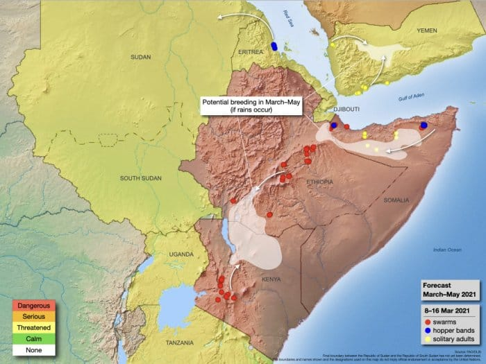 Update on the desert locust situation and its impact on the people in the greater Horn of Africa