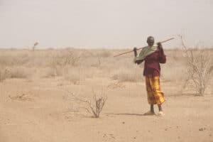 A burana tribesman, north of Merti, northern Kenya.